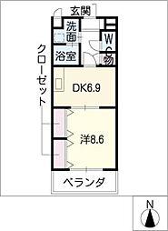 プリモ72[3階]の間取り