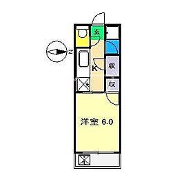 高知県高知市中万々の賃貸マンションの間取り