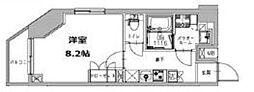 S-RESIDENCE三田慶大前 3階1Kの間取り