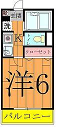 奥富マンション2[402号室]の間取り