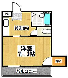 大阪府守口市寺方本通4丁目の賃貸マンションの間取り