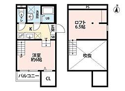 INFIELD箱崎(インフィールド)[1階]の間取り