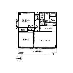 ジュネス小田原[304号室]の間取り