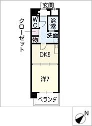 K'sガーデン[8階]の間取り