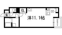 兵庫県宝塚市安倉北2丁目の賃貸アパートの間取り