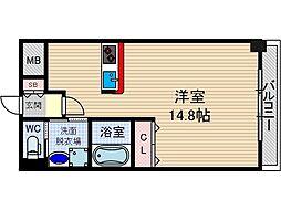 レフィナード茨木[3階]の間取り