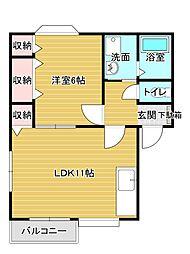 大杉ハウスIII[2階]の間取り