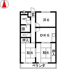 ハイツ上屋敷II[3階]の間取り