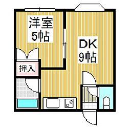 クラールハイム[3階]の間取り