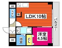 ザ・コンフォルート 2階1LDKの間取り