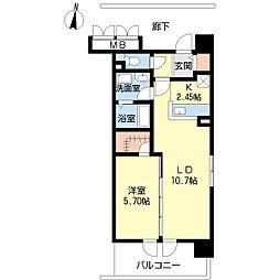新潟県新潟市中央区湖南の賃貸マンションの間取り