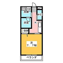 イーダッシュ東静岡[5階]の間取り