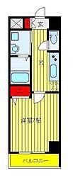 都営三田線 板橋本町駅 徒歩2分の賃貸マンション 4階1Kの間取り