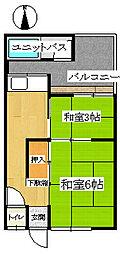 王居殿アパート[102号室]の間取り