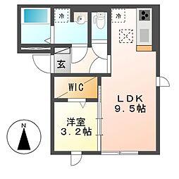 (仮)D-room道徳北町[2階]の間取り