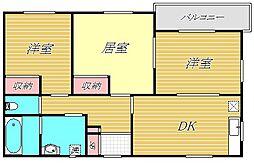 東京都板橋区四葉1丁目の賃貸マンションの間取り