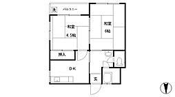 田畑マンション[401号室]の間取り
