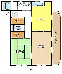 愛知県名古屋市名東区極楽4丁目の賃貸マンションの間取り