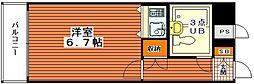 朝日プラザαポート神戸[8F号室]の間取り