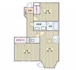 サニーパーク[1階]の間取り