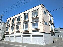 北海道札幌市東区北三十九条東17丁目の賃貸アパートの外観