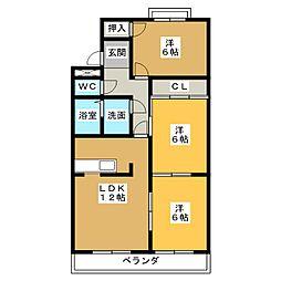 ドミール藤井[2階]の間取り