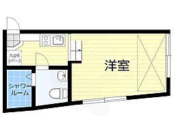Sora渋谷 1階ワンルームの間取り