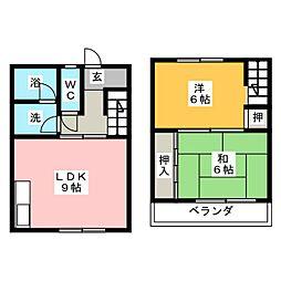 [テラスハウス] 愛知県名古屋市名東区望が丘 の賃貸【愛知県 / 名古屋市名東区】の間取り