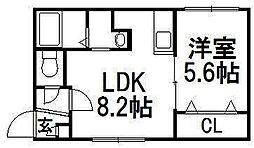 北海道札幌市白石区南郷通9丁目北の賃貸マンションの間取り