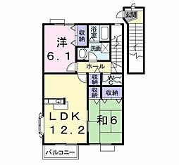 エスポワールハイム D[2階]の間取り