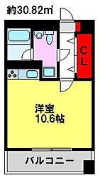 E.POPULAR[3階]の間取り