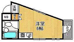 ビバハイツ武庫之荘[2階]の間取り