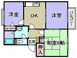 花水木タウン[2階]の間取り