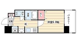 プレサンス京都烏丸NEXT[5号室]の間取り