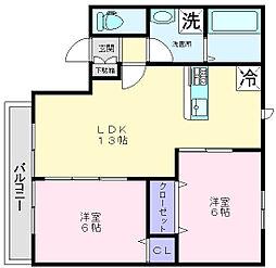 ベストハイム富秋[2階]の間取り