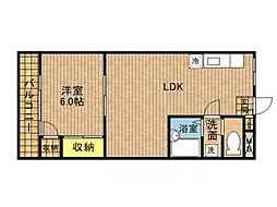 神奈川県横浜市神奈川区西寺尾1丁目の賃貸マンションの間取り