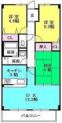 夙川レッチオ・レジデンツァ[302号室]の間取り