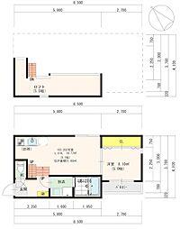 福岡市地下鉄空港線 中洲川端駅 徒歩8分の賃貸アパート 2階1LDKの間取り