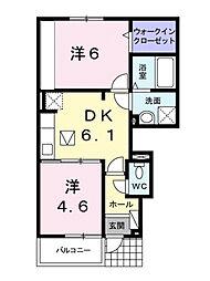 ブライト スクエア Ⅱ[1階]の間取り