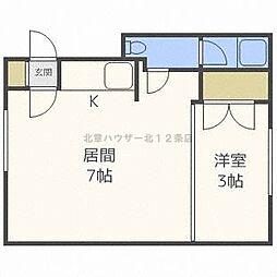 24ハイツ[1階]の間取り