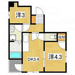 DS LIBRA[2階]の間取り