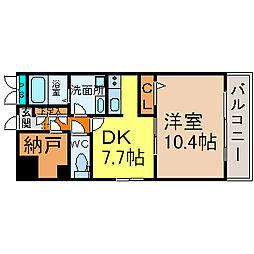 Will Do 太閤通[3階]の間取り