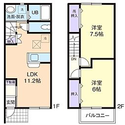 KAZE&杜 東[2階]の間取り
