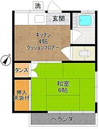 せきやま荘[203号室]の間取り
