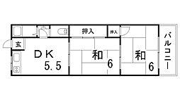 ハイツハタヤ[1階]の間取り