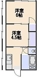 平塚荘[211号室]の間取り