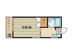 東京都練馬区上石神井1丁目の賃貸アパートの間取り