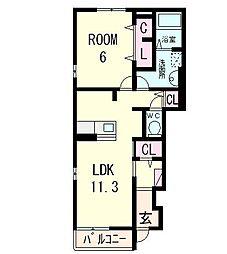 Riria7 1[1階]の間取り