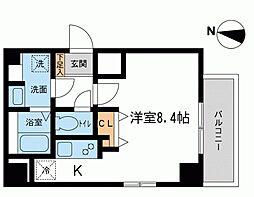 神奈川県平塚市代官町の賃貸マンションの間取り