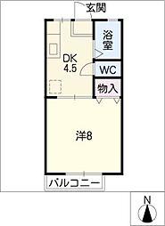ジュネスハウス[1階]の間取り